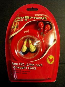 Koss Licensed Husker Earbuds 2 Pack NEW, Unopened Original P
