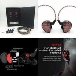 LINSOUL AS10 5BA Hifi Stereo In Ear Earphone High Resolution