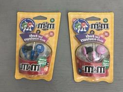 Lot of 2 Maxell M&M Candy Pink & Blue In-Ear Only Lightweigh