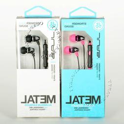 JLab Metal Aluminum Earbuds Headphone Headset w/Mic Control