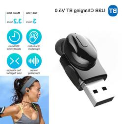 Bluetooth Mini Earbuds Invisible Wireless Earpiece Sport Car