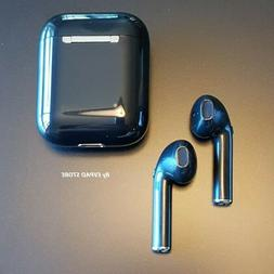 NEW Black Airpods Style Bluetooth 5.0 Earbuds Wireless Headp