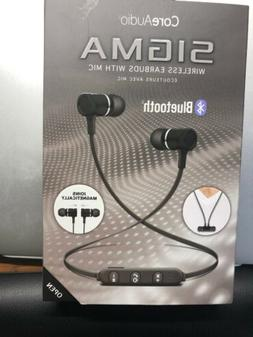 CORE AUDIO NEW Black Bluetooth Sigma Wireless Earbuds with M