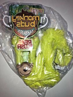 New Monkey Buds, Earbuds Tangle Free Foldable Kids Earbuds E