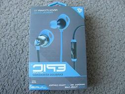New JLAB EPIC Earbuds Universal Mic with Track Control Blue/