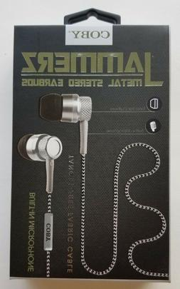 New Coby Jammerz Metal Stereo Earbuds w/ Built-In Microphone