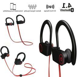 NEW Waterproof Bluetooth Earbuds Sport Wireless Headphones i