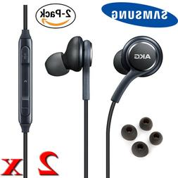 2 Pack SAMSUNG AKG Earphones Earbuds Headset with Remote & M