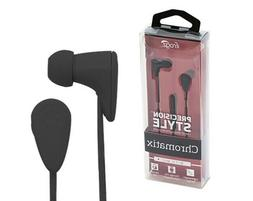 New OEM iFrogz Chromatix Black Earbuds with Single Button Re