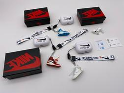 Off-White Inspired AirPods PRO WHITE Case w/ Lanyard Earbuds