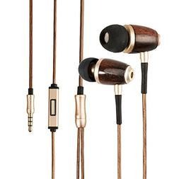 OpenBox DIKOO In-Ear Earbuds Headphones Premium Genuine Wood