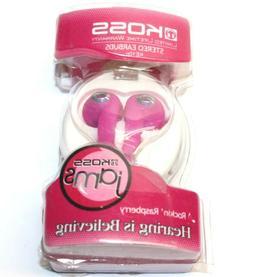 Original Koss KE10 Jams Earbuds Stereo Pink Wired Earphones