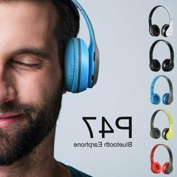 P47 Foldable Bluetooth Headphones Stereo Headset Wireless  M
