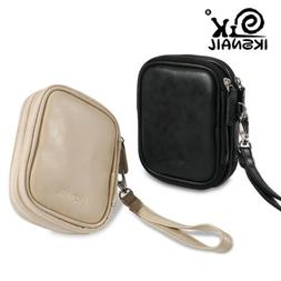 Iksnail PU Leather Earphone Case Earbuds Carrying Pouch For