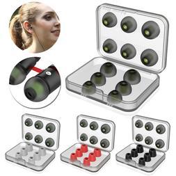 12pcs Memory Foam tips Noise Cancellation in-ear Earbud Repl