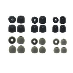 Replacement Earbud Tips for 1More - 6 pr. Silicone & 6 pr. M