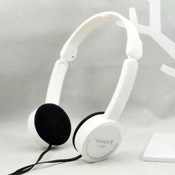 Retractable collapsible Over-ear Earbud Headset with Mic Ste