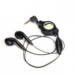 RETRACTABLE HEADSET HANDS-FREE DUAL EARBUDS EARPHONES with M