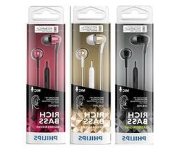Philips SHE3905 Rich Bass With Mic In-Ear Headphones Earbuds