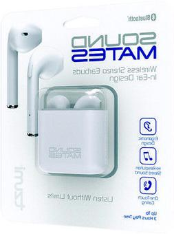 Tzumi Soundmates 5761 Bluetooth Earbuds Charging Case White