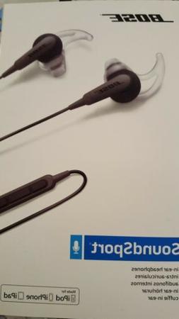 BOSE SoundSport In-Ear Earbuds Headphones - Charcoal Black N