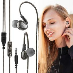 Sport Headphones Wired Over Ear Earbuds 4D HD Stereo Mic For