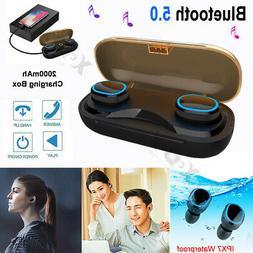 T16 In-Ear Bluetooth 5.0 Headset Wireless Stereo Earphone HI