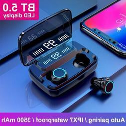 Touch Bluetooth 5.0 Headphones Headset Wireless Earphones Ea
