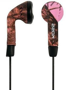 Koss Two Pack Mossy Oak Pink Earbuds 60-20K Hz 4'Cord 3.5mm