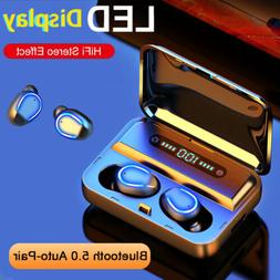 TWS Bluetooth 5.0 Headset Twins Wireless Headphone HIFI Ster