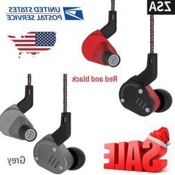 US KZ ZSA 1BA+1DD HiFi Hybrid Driver in Ear Earphones Earbud