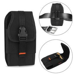Vertical Heavy Duty Canvas Metal Clip Case for Cell Phone wi