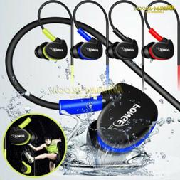Waterproof Earphones In Ear Earbuds HIFI Sport Headphones Ba