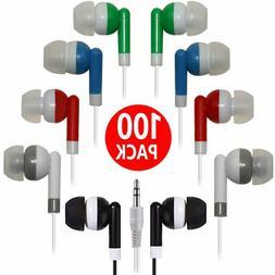 Wholesale Bulk Earbuds 100 Pack Earbuds Headphones Earphones