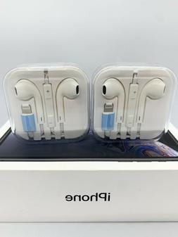 iPhone 7 8 X 11 Pro Max Wired Earbuds Earphones Bluetooth Wi
