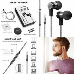 Wired Hi Res Stereo Earbuds W Microphone & Volume Control Du