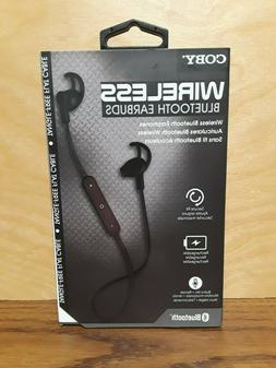 Coby WIRELESS Bluetooth Earbuds w/Built-In Mic - White, Red