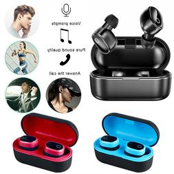 Bluetooth 5.0 True Wireless Earbuds Sports Headsets Stereo H
