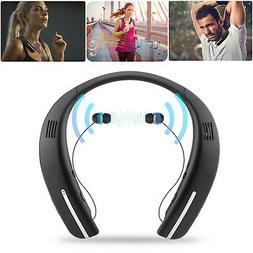 wireless bluetooth headset dual speaker earphones earbuds