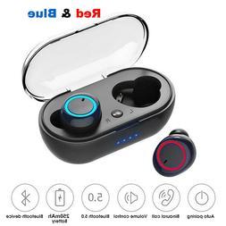 Wireless Earbuds Bluetooth 5.0 Sweatproof TWS In-Ear Mic Ste