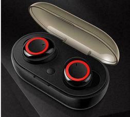 Wireless Earbuds Sweatproof Bluetooth 5.0 TWS In-ear Mic Ste