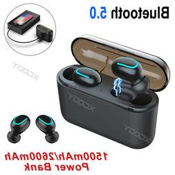 Wireless Headset Bluetooth 5.0 Stereo Earbuds Waterproof Hea
