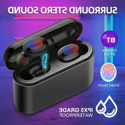 Wireless Headsets Bluetooth Headphone Earbuds w/Mic HiFi Sou