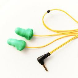 PLUGFONES Y/G Foam NOISE CANCELLATION EARBUDS EARPLUGS HEADP
