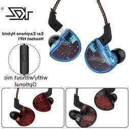 KZ ZS10 4BA+1DD In Ear Earphone Dynamic Earbuds HiFi Bass Mo