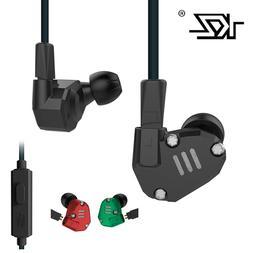 KZ ZS6 2DD+2BA Hybrid In-Ear Earphone Upgraded IEM HIFI Head