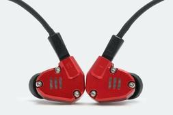 KZ ZS6 Red In-ear Wired Earbuds 2DD+2BA Hybrid Metal IEM Hea